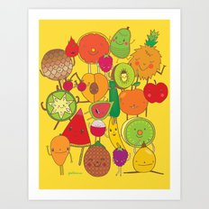Veggies Fruits Art Print