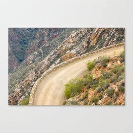 Tight bend in the Swartberg Pass in South Africa - Landscape Canvas Print