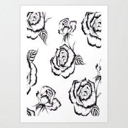 """Rose"" Pattern Art Print"