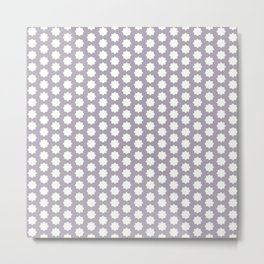 Modern pattern grey white Metal Print