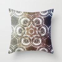 glass Throw Pillows featuring GLASS by Zeno Photography
