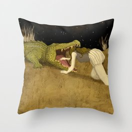 In The Mouth Of Madness Throw Pillow