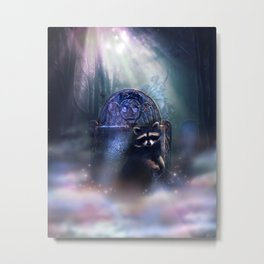 Raccoon Spirit Metal Print