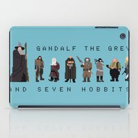 gandalf iPad Cases featuring gandalf the grey and seven hobbits by gazonula