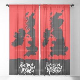 An American Werewolf in London Sheer Curtain