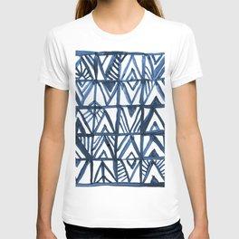 Geometric Indigo T-shirt