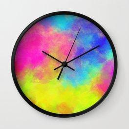 Color powder Wall Clock