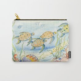 Sea Turtles, Coral and Kelp Carry-All Pouch
