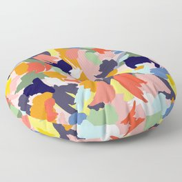 Bright Paint Blobs Floor Pillow