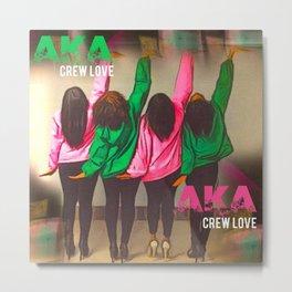 AKA Crew Love Metal Print
