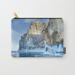 Blue Ice of the Lake Baikal Carry-All Pouch