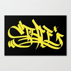 Style yellow marker art Canvas Print