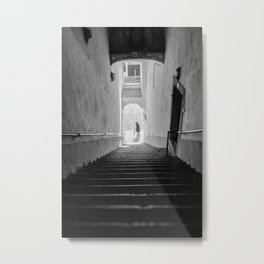 Upstairs, Downstairs - Lisbon Portugal Metal Print