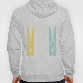 Turquoise and Gold Clothespins Hoody