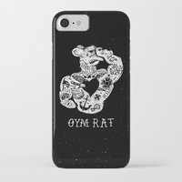 gym iPhone & iPod Cases featuring Gym Rat by Textures