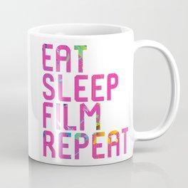 Eat Sleep Film Repeat Movie Set Coffee Mug