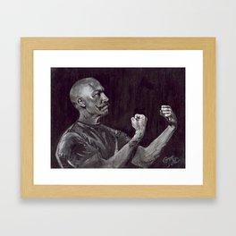 Awesome Art, Home Decor, Mustache art, The Handsome Boxer Framed Art Print