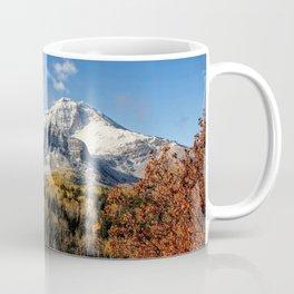 Winter Mountain In Autumn Utah Coffee Mug