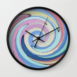 Swirling Pastel Colors Wall Clock