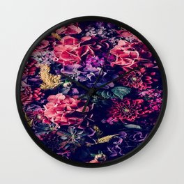 Flowers pattern Wall Clock