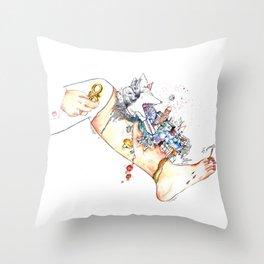 "Original illustration-""Legs City "" Throw Pillow"