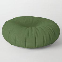Look Away Green Floor Pillow
