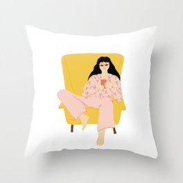 Pyjama Sunday Throw Pillow