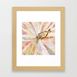 Sleeping Ballerina Floral - Gold Summer Palette Framed Art Print