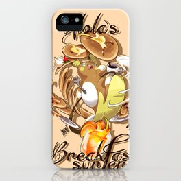 Alola´s Breakfast surfer iPhone Case
