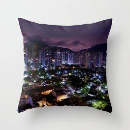 Purple Rio Throw Pillow