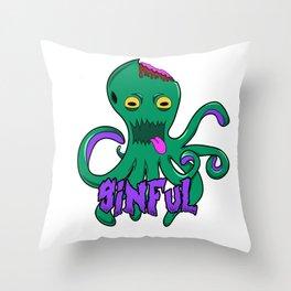 Sinful Octopus!  Throw Pillow