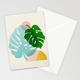 Abstraction_PLANTS_01 Stationery Cards