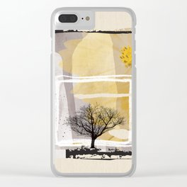 Fine Art of The Winter Smell Touching the Lonely Tree! Clear iPhone Case