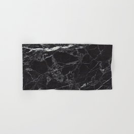 Black Marble Hand & Bath Towel
