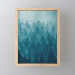 Misty Pine Forest Framed Mini Art Print