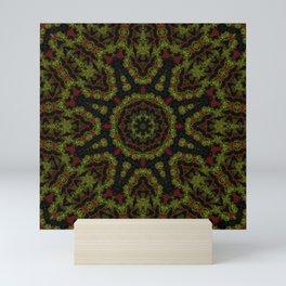 Red Yellow and Black Kaleidoscope Mini Art Print