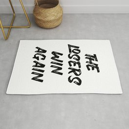 Loser winner win saying quote gift Rug