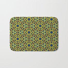 Beautiful Yellow Blue and Orange Beaded Art Print Bath Mat