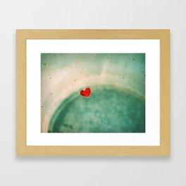 Hole Punched Leaf Heart Framed Art Print