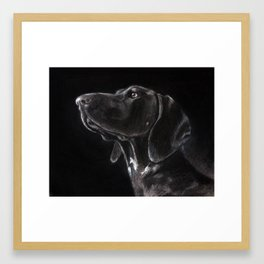 German Shorthaired Pointer Profile Framed Art Print