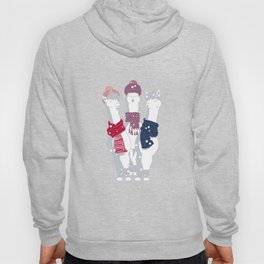 Happy llamas Christmas Choir III Hoody