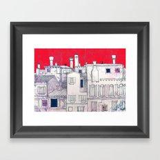 architectural sketch Framed Art Print