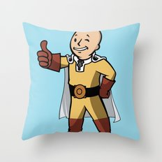 One punch boy - Parody Throw Pillow