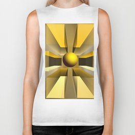 In a magical perspective, fractal abstract Biker Tank