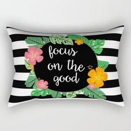 Focus on the good Rectangular Pillow