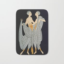 "Art Deco Illustration ""Twins"" by Erté Bath Mat"