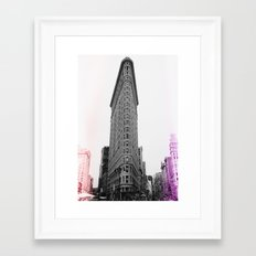 Flatiron Pop Framed Art Print