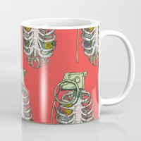 huebucket Mugs featuring Grenade Garden by Huebucket