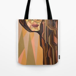 geometric girl Tote Bag
