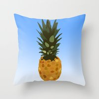 psych Throw Pillows featuring Psych by Lauren Lee Design's